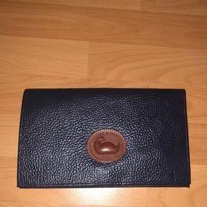 Dooney and Bourke Navy envelope purse